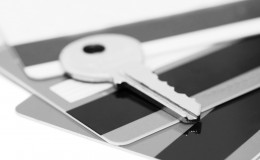 credit card and keys – security concept